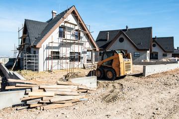 Obraz New build houses - fototapety do salonu