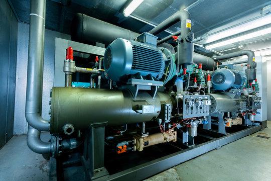 Ammoniak Kälteanlage, Kühlung für Gewächshäuser, redundant mit Spitzenlast Absicherung