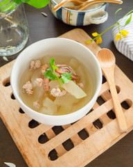 Winter melon Soup,Asian Food,Homemade food,Soup,Dieting/OLYMPUS DIGITAL CAMERA