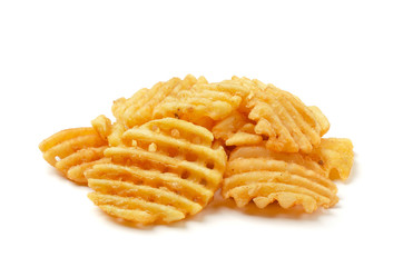 Crispy potato waffles fries