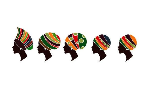 African women wearing head wraps