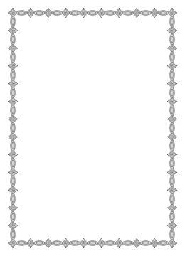 Einfacher Rahmen mit antik muster für Fotos oder Briefe auf einem isolierten weißen Hintergrund.