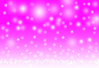 White circle Bokeh on pink background, circle abstract light background..