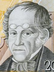Simon Rodriguez portrait from Venezuelan money