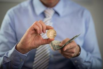 Fototapeta Bitocin i pieniądze obraz