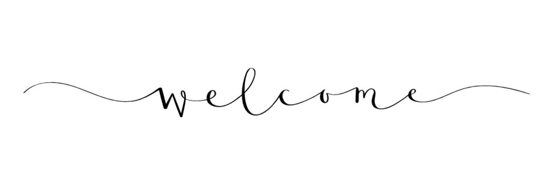 WELCOME brush calligraphy banner