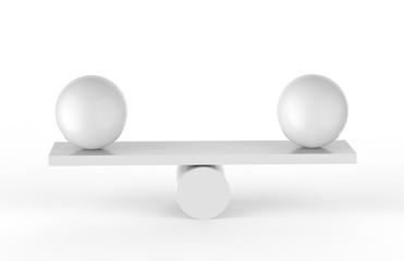 Balanced Balls, 3D Illustration
