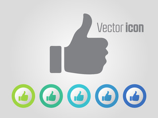 Like vector icons and different color variations