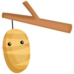 a vector of a cute and adorable cocoon