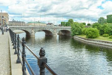 Brücke in der Altstadt von Stockholm, Schweden