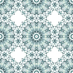 background, geometric seamless pattern with ornate lace frame.
