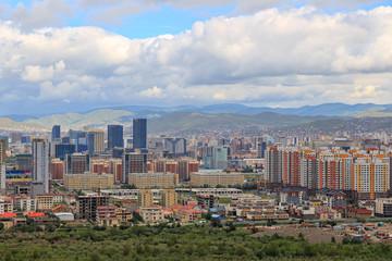Mongolia, Ulaanbaatar. Panarama is the capital of Mongolia, the city of Ulaanbaatar. View from the mountain Zaisan Monument