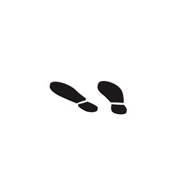 3d Pedestrian Footprint Stencil, vector illustration.
