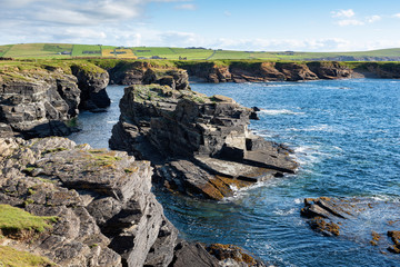 Great Britain, Scotland, Orkney Islands, Birsay, rocky cliffs on the north coast of Mainland