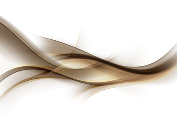 Abstract gold and brown waves background. Elegant decoration backdrop.