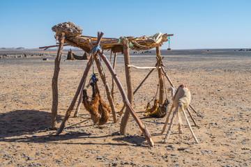 Berber nomads camp in Sahara desert, Morocco