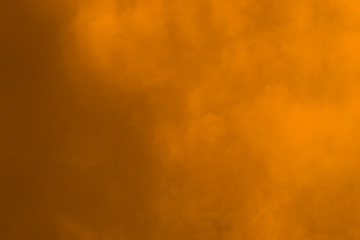 Abstract blurred yellow smoky background, photo
