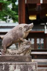 護王神社の狛猪