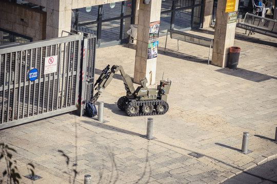 Military robot in Jerusalem