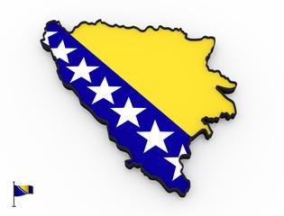 Bosnia and Herzegovina high detailed 3D map