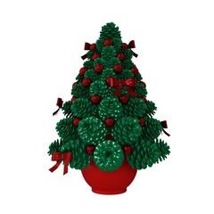 Green Cone Vase