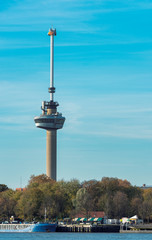 Deurstickers Rotterdam the euromast tower in rotterdam