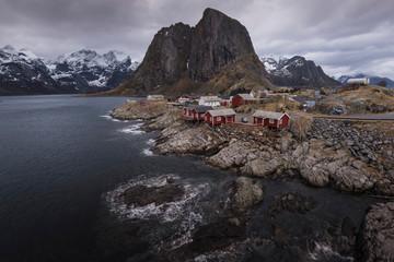 View of Lofoten in Winter, Norway.