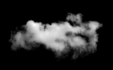 Cloud isolated on a black background