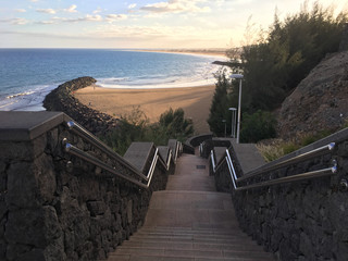 Staircase leading down to beach