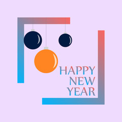 Happy New 2019 Year. Holiday Vector Illustration With Lettering Composition and Burst. Vintage Festive Label