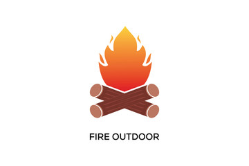 FIRE OUTDOOR LOGO DESIGN