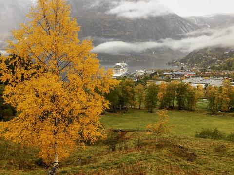 Geirangerfjord im Herbst