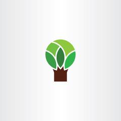 geometric tree logo symbol icon element