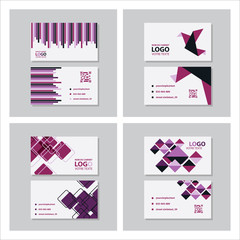 Set of Creative and Clean Business Card Template. Flat Design Vector Illustration. Stationery Design