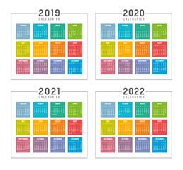 Calendrier Agenda 2019 2020 2021 2022