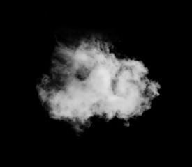 Single cloud isolated on black