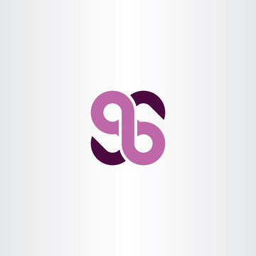 number 96 anniversary logo icon element vector