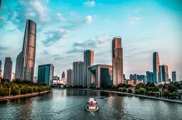 downtown river walk Tianjin