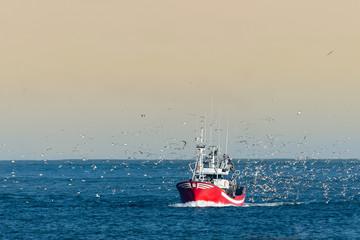 Fishing boat returning