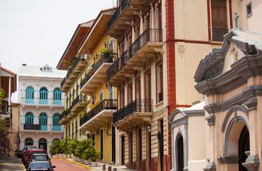 Casco Viejo in Panama City. the historical part from Panama City