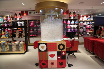 The Build-A-Bear machine is seen inside the new flagship FAO Schwarz store in Rockefeller Plaza in New York