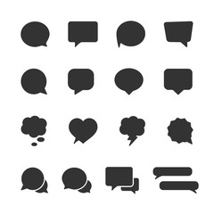 Vector image set of speech bubble icons.