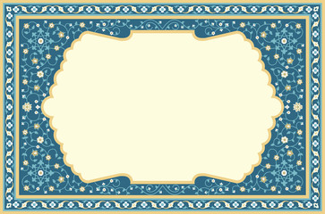 Vector image of the Eastern frame, for decoration of Eastern holidays and drawings.