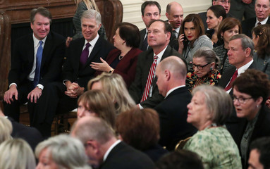U.S. Supreme Court Justices Kavanaugh, Gorsuch, Kagan, Alito, Ginsburg and Roberts attend Presidential Medal of Freedom ceremony in Washington