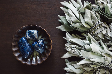 Sodalite with White Sage Smudges