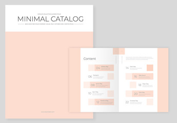 Catalog Layout with Pale Orange Accents