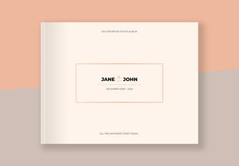 Photo Album Layout with Pale Orange Gradient Element