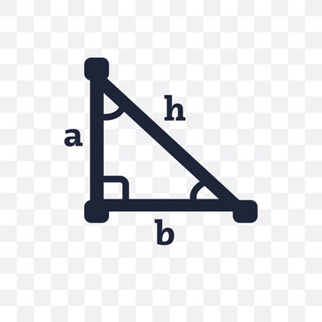 Trigonometry transparent icon. Trigonometry symbol design from Education collection. Simple element vector illustration. Can be used in web and mobile.
