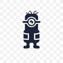 Minion transparent icon. Minion symbol design from Entertainment collection. Simple element vector illustration. Can be used in web and mobile.