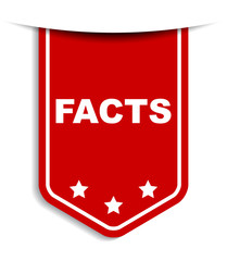 red vector banner facts